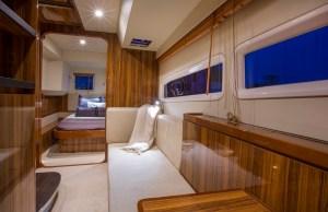 Interiors onboard Marine Max 48 Private in Miami, FL.