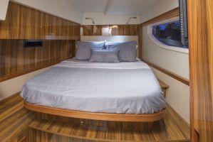 Interiors onboard Marine Max Private 48 in Hurricane Harbor, Key Biscayne FL.